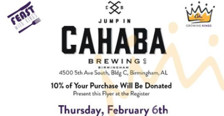 Feast with Kings with Growing Kings at Cahaba Brewing Co.